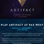 Artifact official website has been updated.