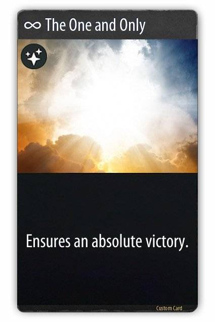 Artifact: General - A custom card I made just for fun image 1
