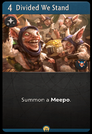 Artifact: General - A question about Meepo's signature card image 1