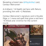 Another new card, Centaur Warrunner