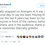 Is Avengers 4 going to be the last for Chris Evans?