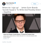 James Gunn signs up to join Suicide Squad 2