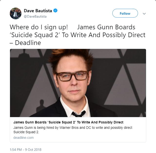 Entertainment: Movies - James Gunn signs up to join Suicide Squad 2 image 3