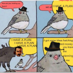 Dutch with his plans