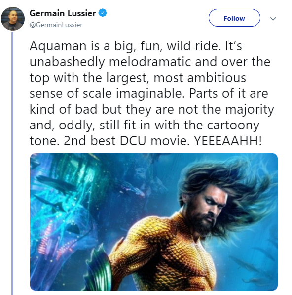 Entertainment: Movies - Aquaman Preview Reactions image 3