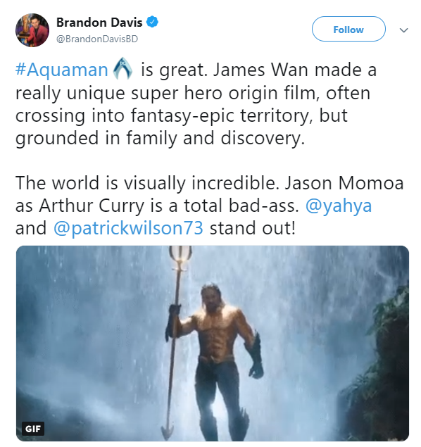 Entertainment: Movies - Aquaman Preview Reactions image 1