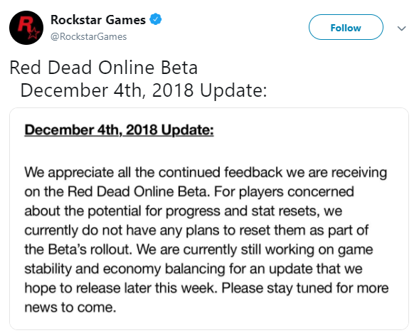 Red Dead Redemption: General - Rockstar is not planning on resets / An update later this week image 1