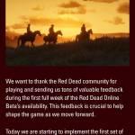 Red Dead Online Beta Week 1 Update