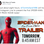 The Trailer for Spider-Man: Far From Home is about to drop!!!