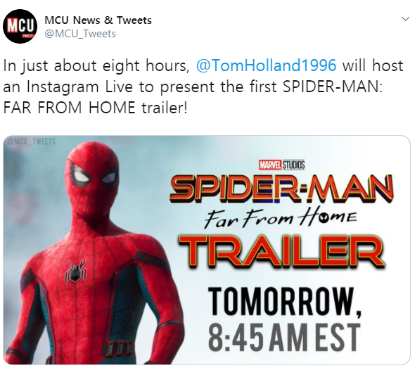 Entertainment: Movies - The Trailer for Spider-Man: Far From Home is about to drop!!! image 1