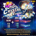40% MORE CRYSTAL EVENT