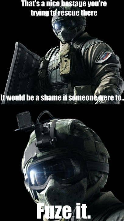Rainbow Six: Memes - #FUZE IT image 1