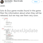 Datamine shows that there will be solo&duo but when?