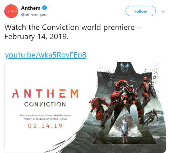 Anthem: General - Anthem Conviction premiers in 36 hours! image 2