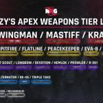Apex Legends pro Dizzy shares surprising official weapons tier list