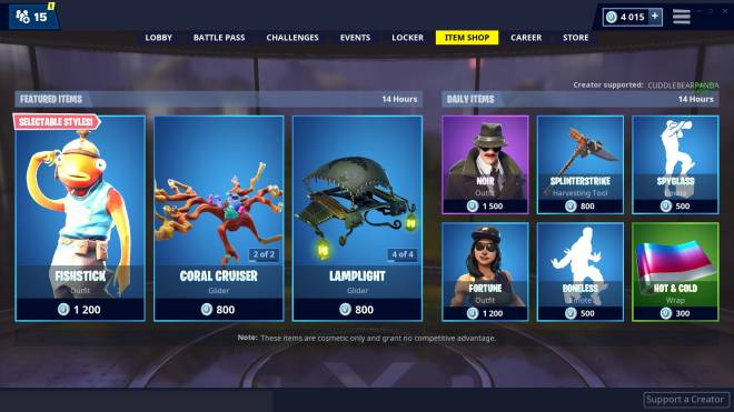 Fortnite: Promotions - Item shop 01-03-2019 image 5