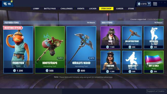 Fortnite: Promotions - Item shop 01-03-2019 image 4