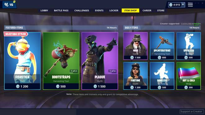 Fortnite: Promotions - Item shop 01-03-2019 image 2