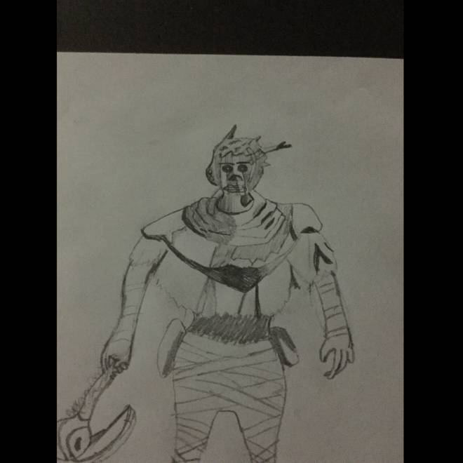 Dead by Daylight: Memes - First try at drawing wraith from dbd  image 1