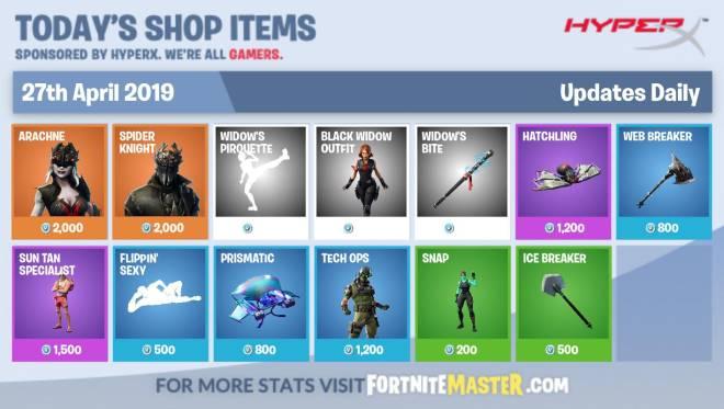 Fortnite: Battle Royale - 27/04/19 item shop image 2
