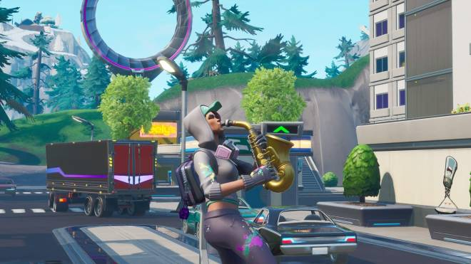 Fortnite: Battle Royale - Spraying up the city... 🤩✨❗ (Teknique Showcase *with various sprays*) image 10