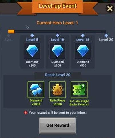 60 Seconds Hero: Idle RPG: Events - [Official Launch Event] Hero Level-Up Event image 7