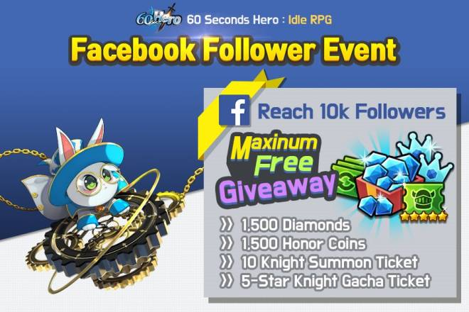 60 Seconds Hero: Idle RPG: Events - [Official Launch Event] Facebook Follower Free Giveaway! (Revised on 5/28) image 7