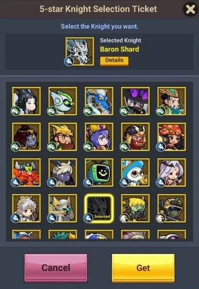 60 Seconds Hero: Idle RPG: FAQ's & Guides - 5-Star Knight Selection Ticket Guide image 4