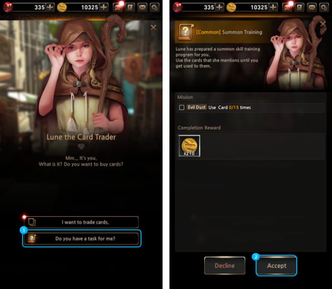 First Summoner: Game Guide - System image 6