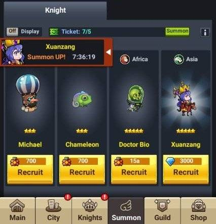 60 Seconds Hero: Idle RPG: Events - [Collection Event] Welcome the New Knights! image 3