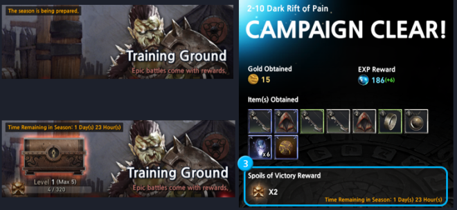 First Summoner: Game Guide - Training Ground - The Spoils of Victory image 2