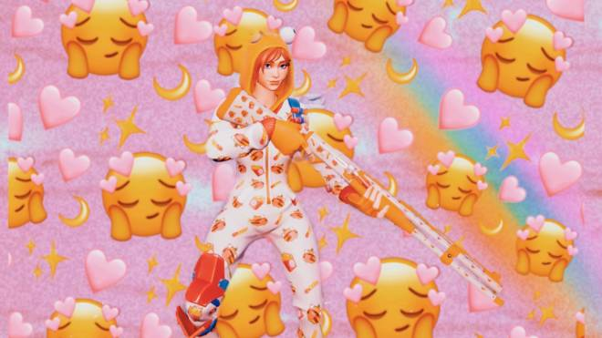 Fortnite: Battle Royale - One Snoozy Gal... 😴✨❗ (Onesie Showcase) {Carti x Queen Collab V2} image 5