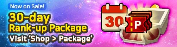 60 Seconds Hero: Idle RPG: Notices - Introducing 30-day Rank-up Package on 6/28(Fri) image 1