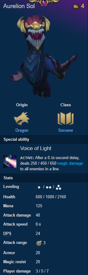 Teamfight Tactics: General - Quick guide to CHAMPIONS #2 ORIGINS-Part 1 image 11