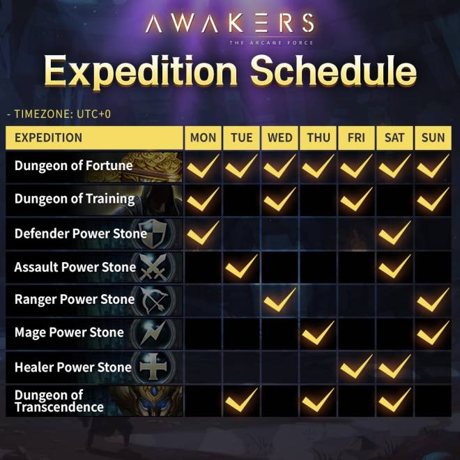 AWAKERS: Event - [In Proceeding] Expedition Schedule image 2