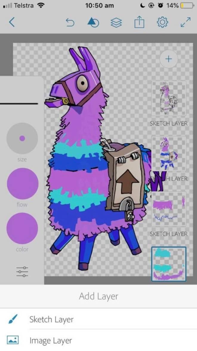 Fortnite: Battle Royale - Llama Art image 2