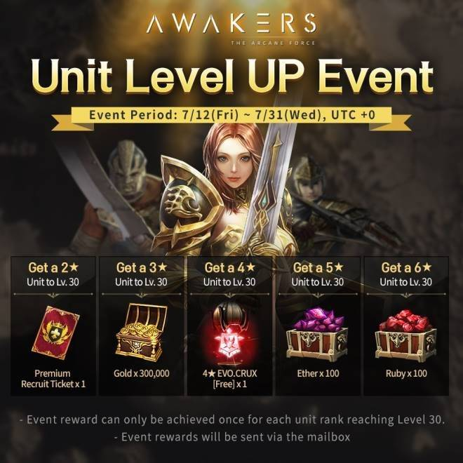 AWAKERS: End Posts - Unit Level Up Event image 2