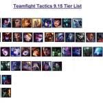 TFT 9.15 adjusted Champion Tier List