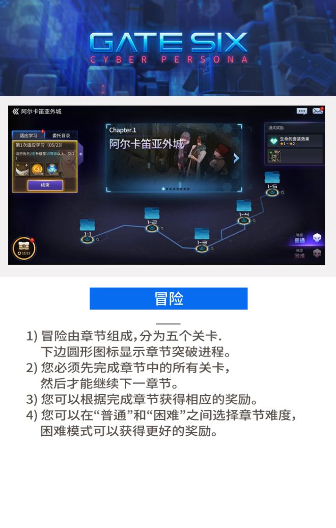 GATESIX: 游戏指南 - 冒险 image 3