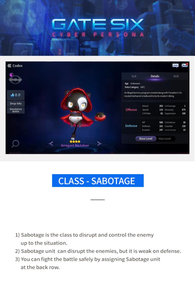 GATESIX: Game guide - Class image 2