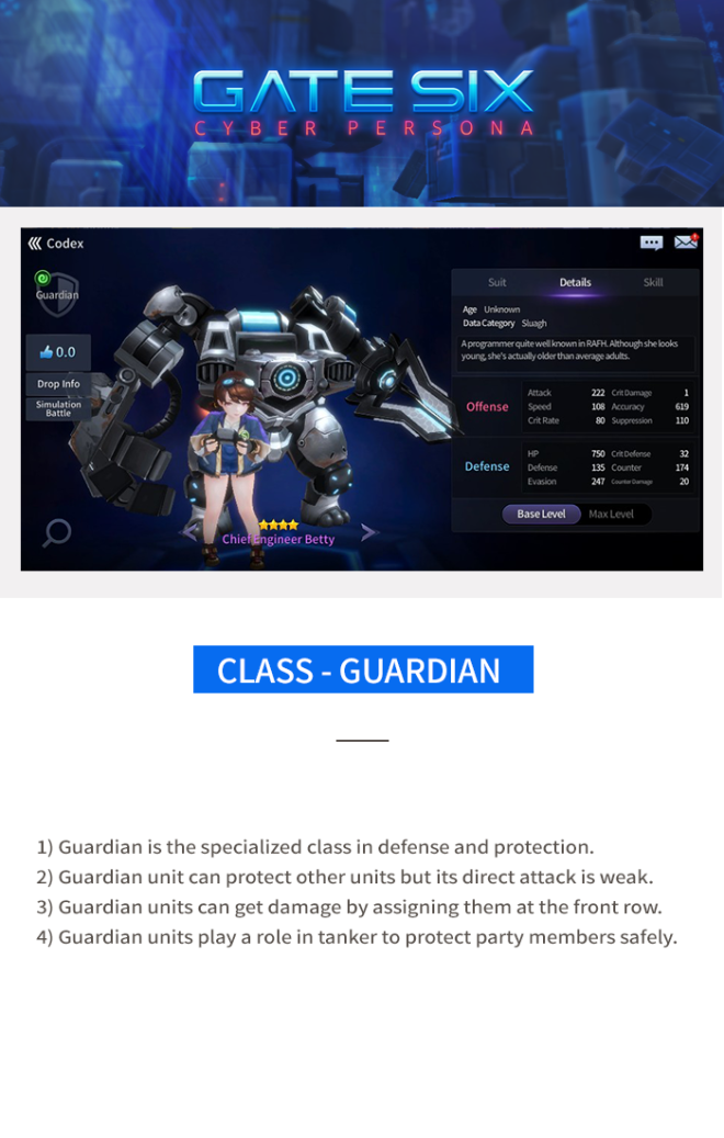 GATESIX: Game guide - Class image 4