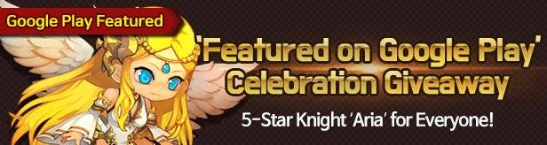 60 Seconds Hero: Idle RPG: Events - 'Featured on Google Play' Celebration Giveaway! (5-Star Knight 'Aria') image 1