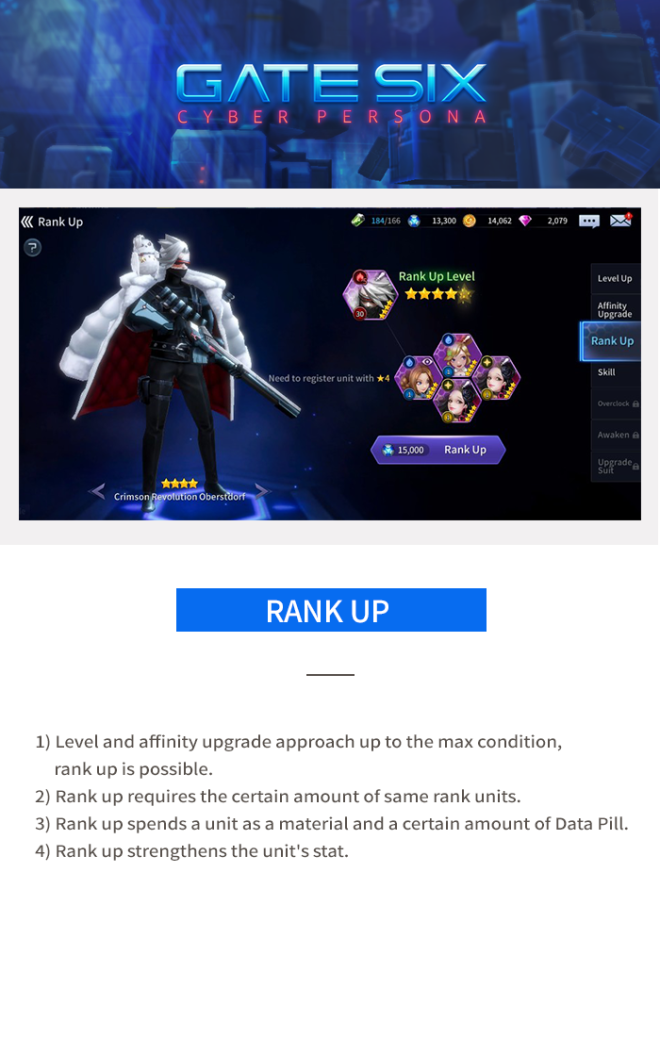 GATESIX: Game guide - Rank Up image 6