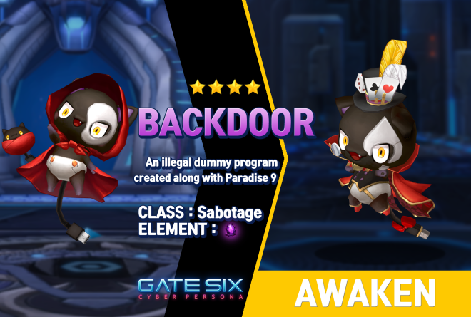 GATESIX: Unit introduce - BACKDOOR (★★★★) image 1