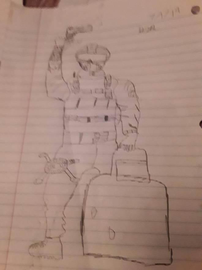 Rainbow Six: Art - I tried drawing fuze what do you think? image 1