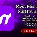 [Event] Moot Member Milestone Event 8/16 ~ 9/15 CDT