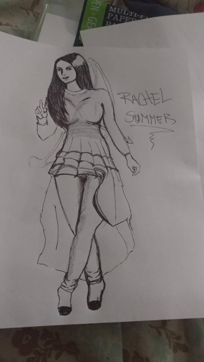 First Summoner: Event Board - This is my Rachel with Her Dress summer. I m not an artist in drawing, i tried my best.  image 1