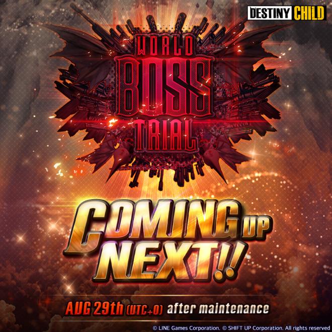 DESTINY CHILD: PAST NEWS - Upcoming: World Boss Trial  image 1