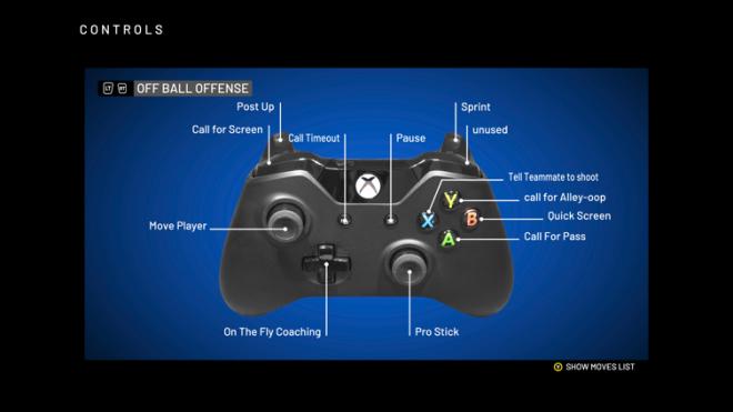NBA 2K: General - NBA 2K20  XBOX Advanced Controls image 5