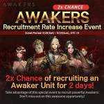 Awaker pick up 2X event coming again!